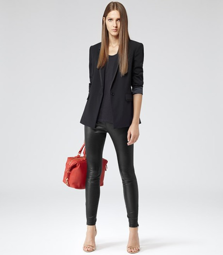 Gorgeous soft leather leggings from Reiss £495