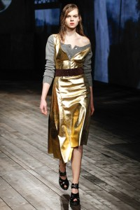 prada. metallic dress