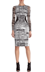 karen millen silhouette dress