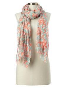 gap neon scarf