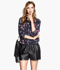 h and M floral bomber jkt