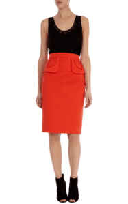 karen millen pencil boyish skirt