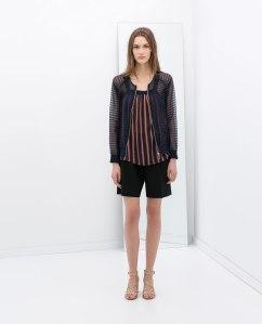 see through Zara jacket