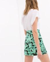 Shorts Zara tropical print