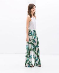 tribal print trousers Zara
