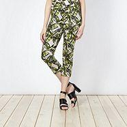 tropical print trousers Principles
