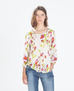 AW14 floral repeat fashion Zara